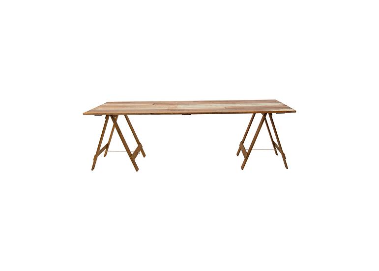 Dining Table Timber 1.8m L w/ Oak Trestle Legs