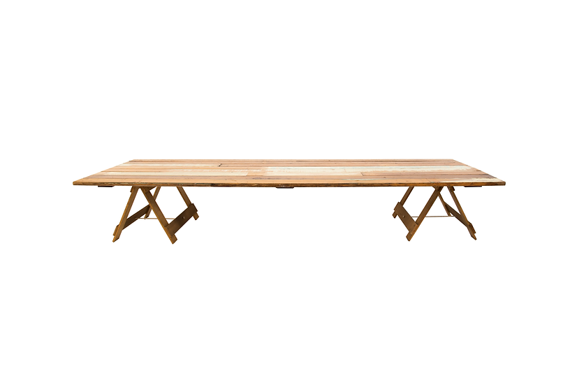 Dining Table Timber w/ Low Set Trestle Legs