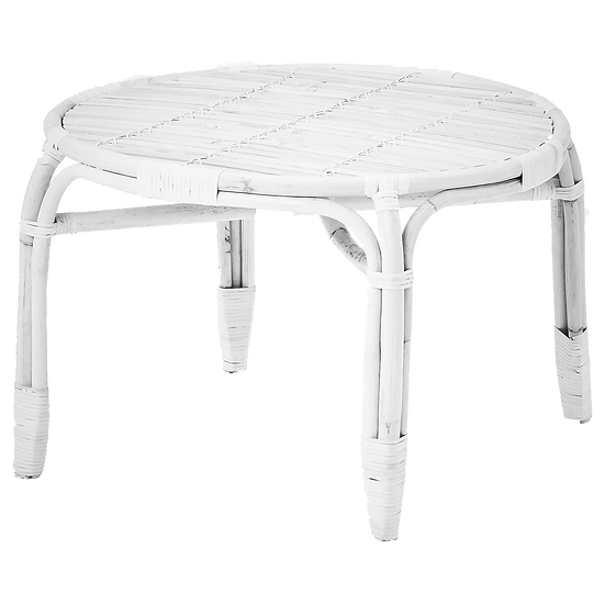 Coffee Table White Cane Large