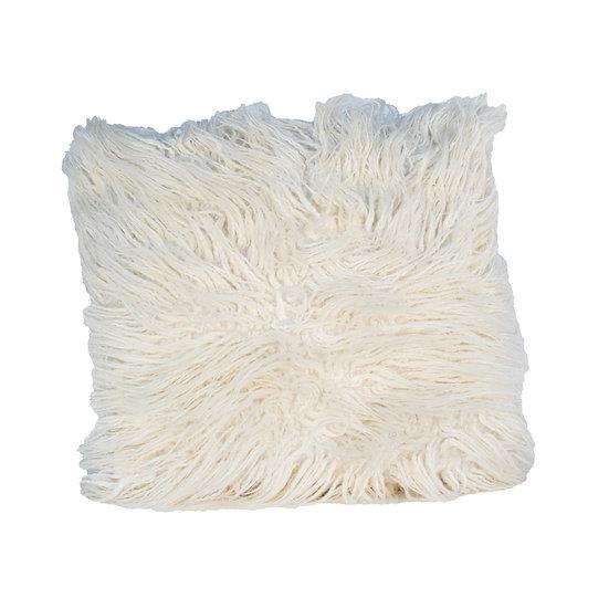 Cushion White Shaggy