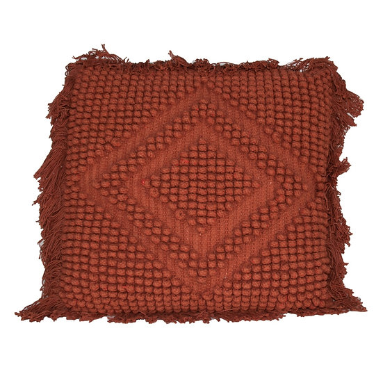 Cushion Rust Diamond Knit