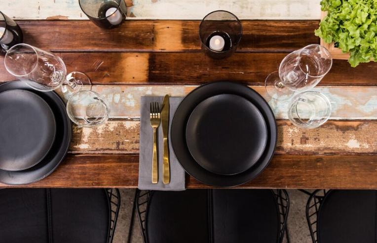 Plate Black Dinner