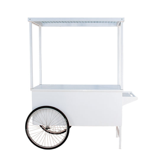 White Beverage Cart