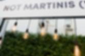 Espresso Martini Festival, Industrial Light Droppers, Bar Canopy, Event Lighting, Festival Hire