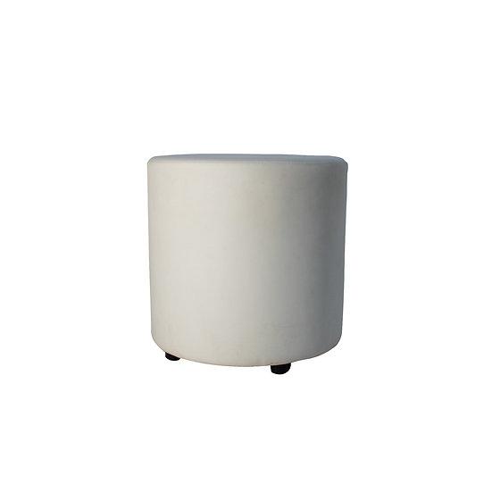 Ottoman White Round Small