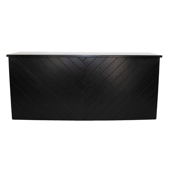 Black Herringbone Bar