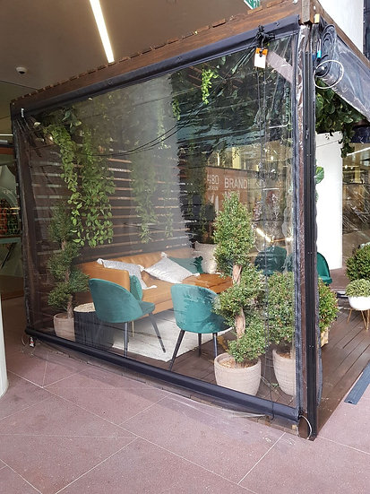 Gazebo Flat Roof Enclosed