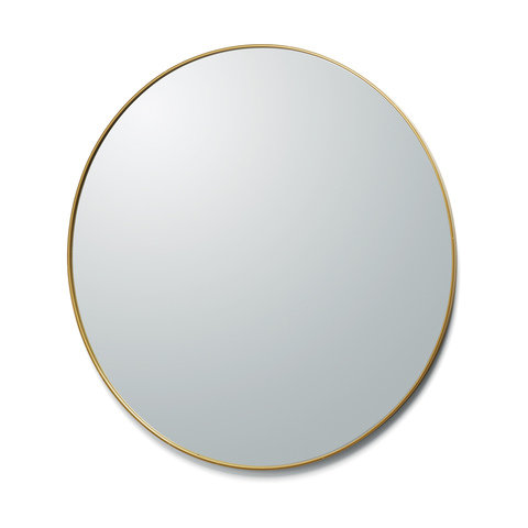 Gold Edged Mirror - Round