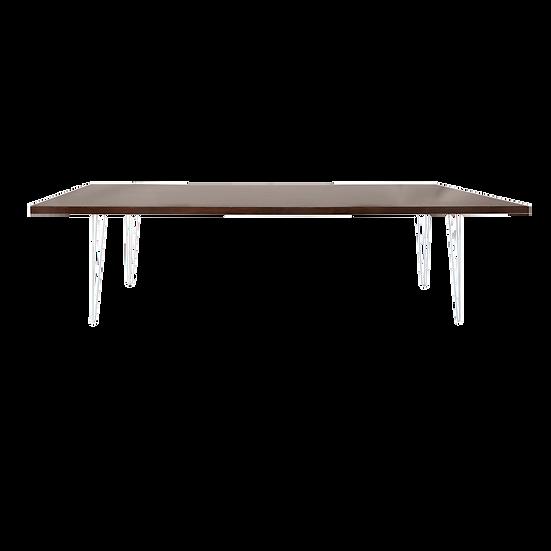Dining Table Mahogany w/ White Hair Pin Legs