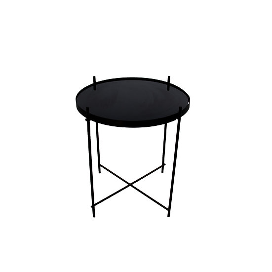 Coffee Table Black Round Small