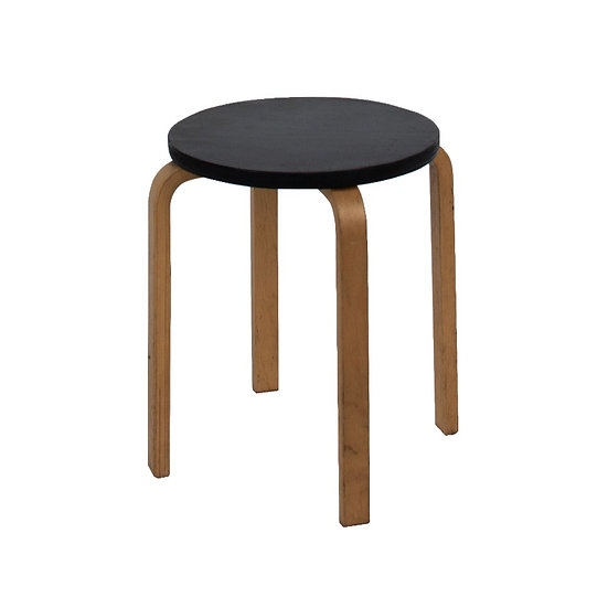Low Stool Pine w/ Black Top