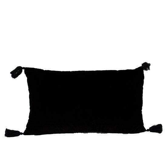 Cushion Black Velvet Rectangle