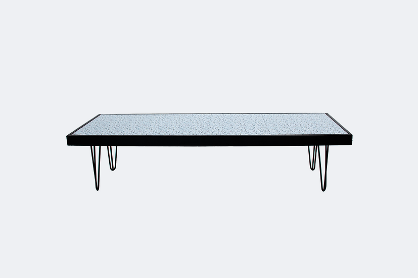 Coffee Table Terrazzo, Black Frame w/ Black Hair Pin Legs