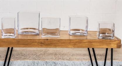 Vase Glass Square
