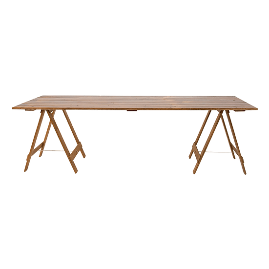 Dining Table Timber Feasting w/ Timber Trestle Legs