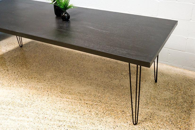 Black Table w/ Black Hair Pin Legs