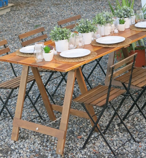 Table Timber 1.8m L w/ Trestle Legs