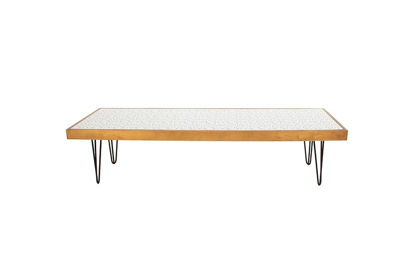 Coffee Table Terrazzo, Oak Frame w/ Black Hair Pin Legs