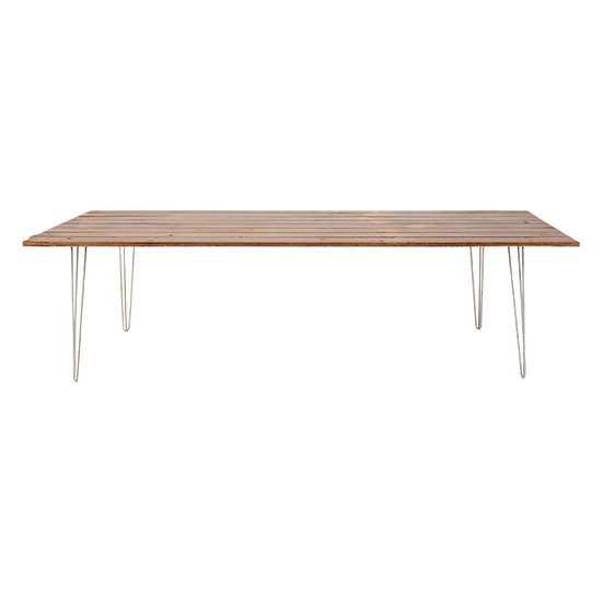 Dining Table Timber Feasting w/ White Hair Pin Legs