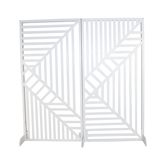 White Geometric Screen Panel