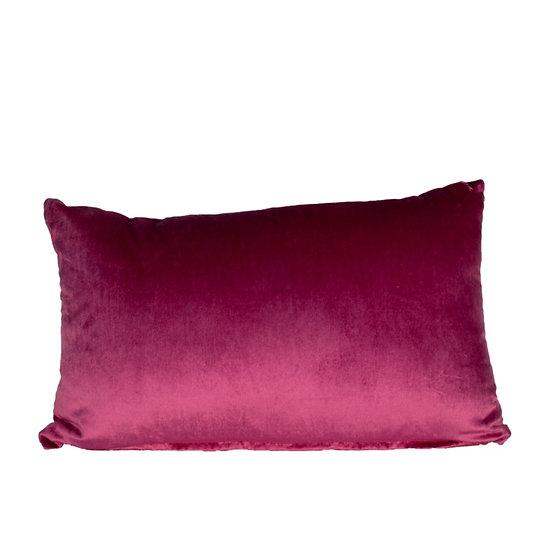 Cushion Pink Velvet Rectangle