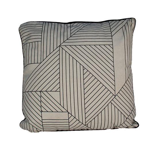 Cushion White Linear Pattern