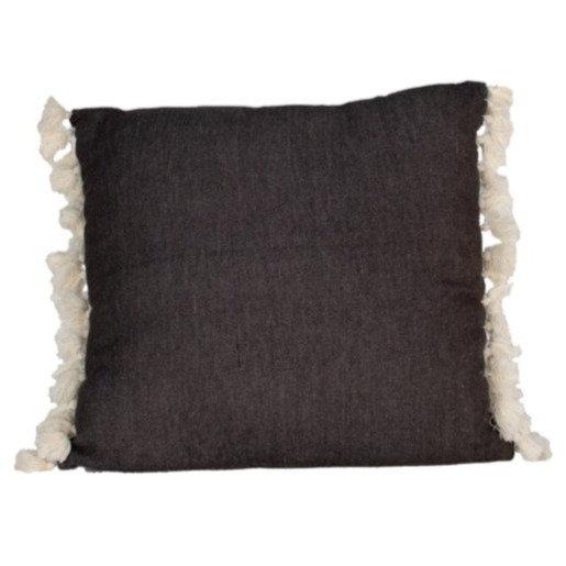 Cushion Grey w/ White Tassel