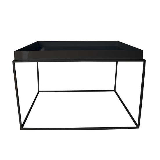 Coffee Table Black Wire Square Large