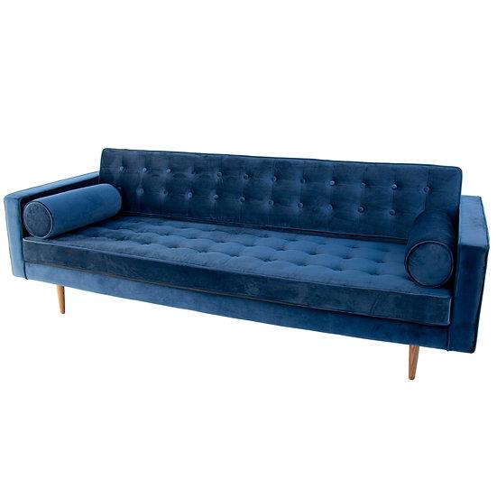 Lounge Navy Velvet 3 Seater