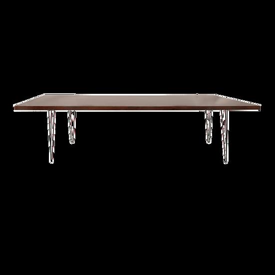 Dining Table Mahogany w/ Black Hair Pin Legs