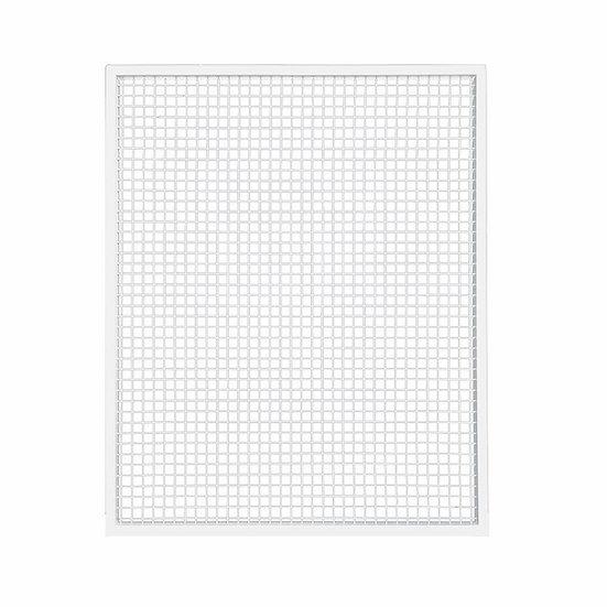 White Mesh Screen w/ White Frame