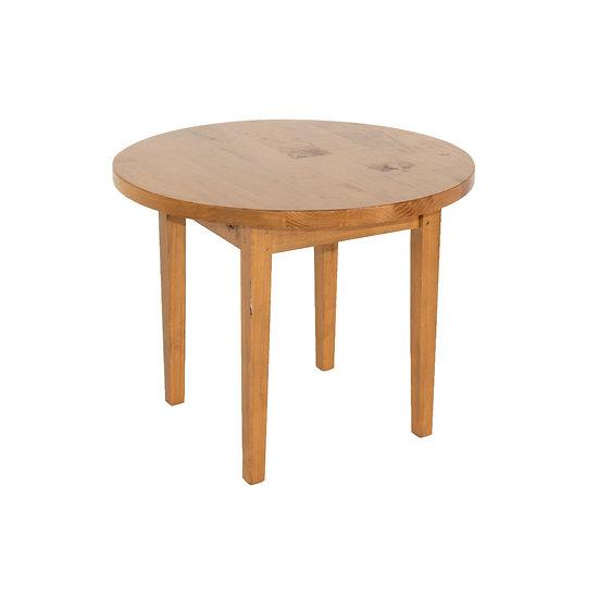 Coffee Table Oak Round w/ Oak Legs