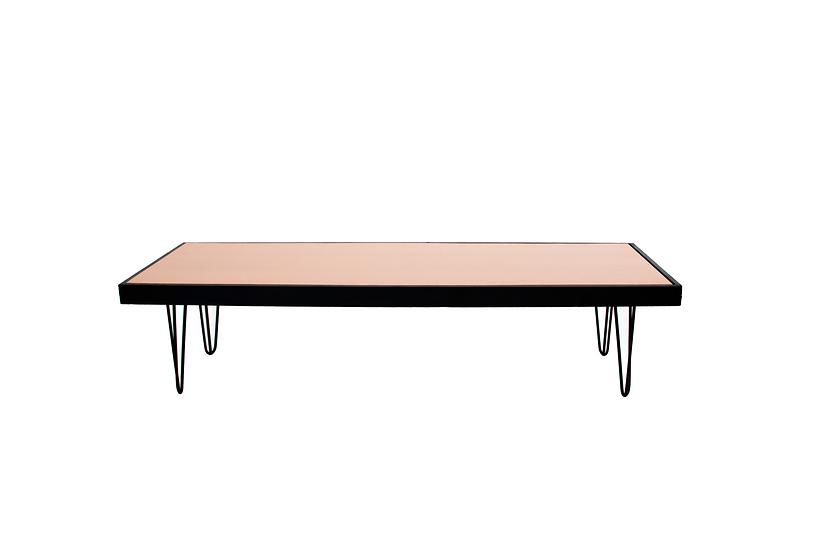 Coffee Table Terracotta, Black Frame w/ Black Hair Pin Legs