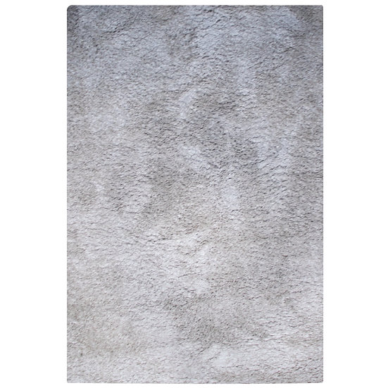 Rug Indoor Grey Plush Rectangle Medium