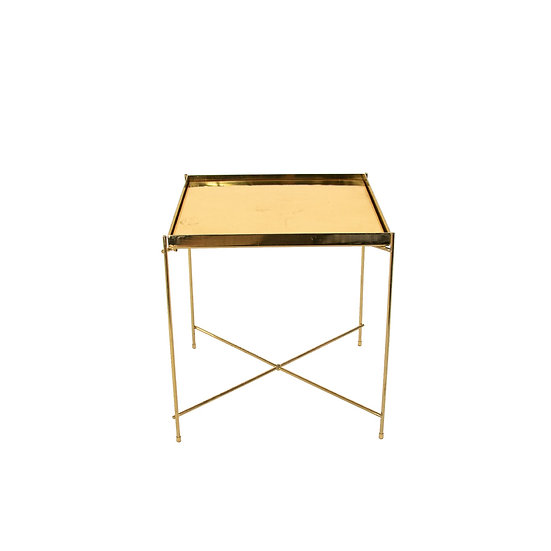 Coffee Table Gold Square Small