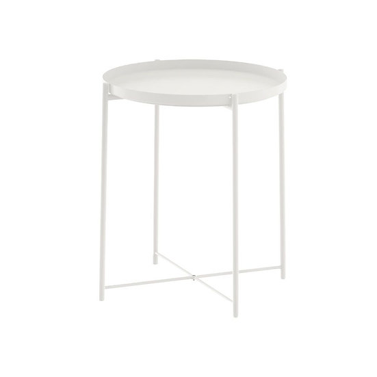 Coffee Table White Round Small
