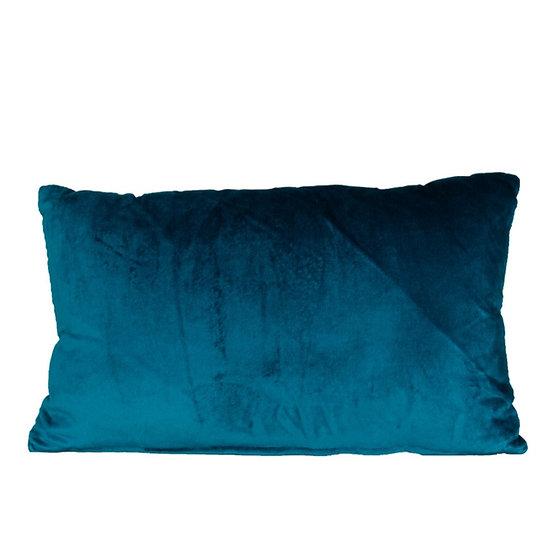 Cushion Teal Velvet Rectangle