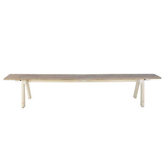 Bench Seat White Wash 2.4m L