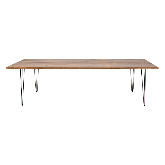 Dining Table Timber Feasting w/ Black Hair Pin Legs