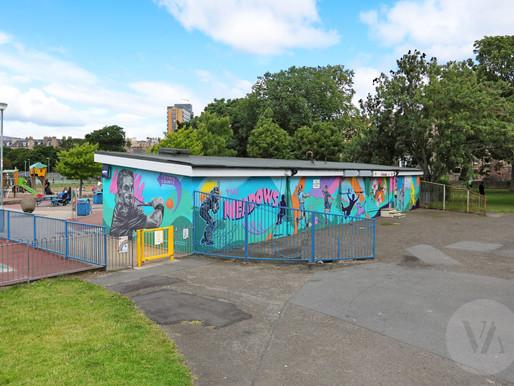 Meadows Tennis Pavilion Mural