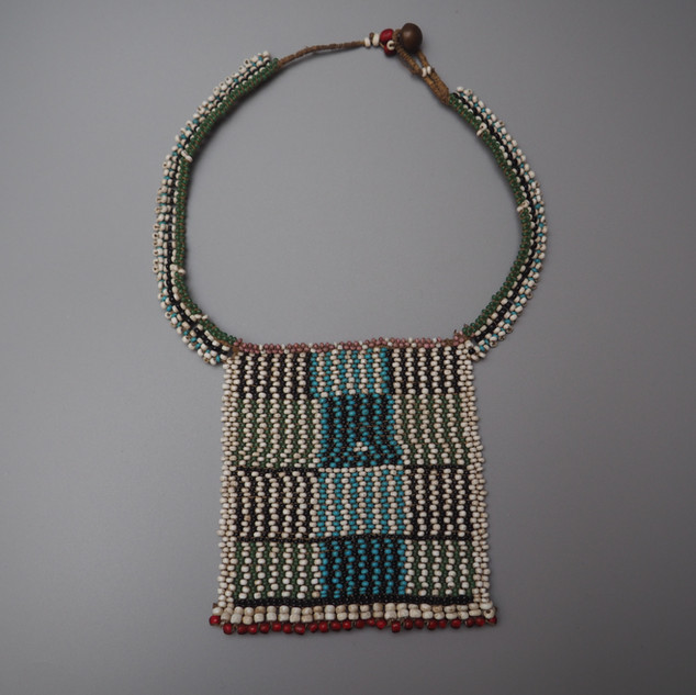 South African Zulu bead work panel necklace