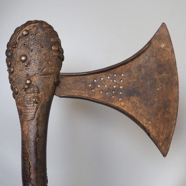 Congo Songye Snake Skin Studded Axe