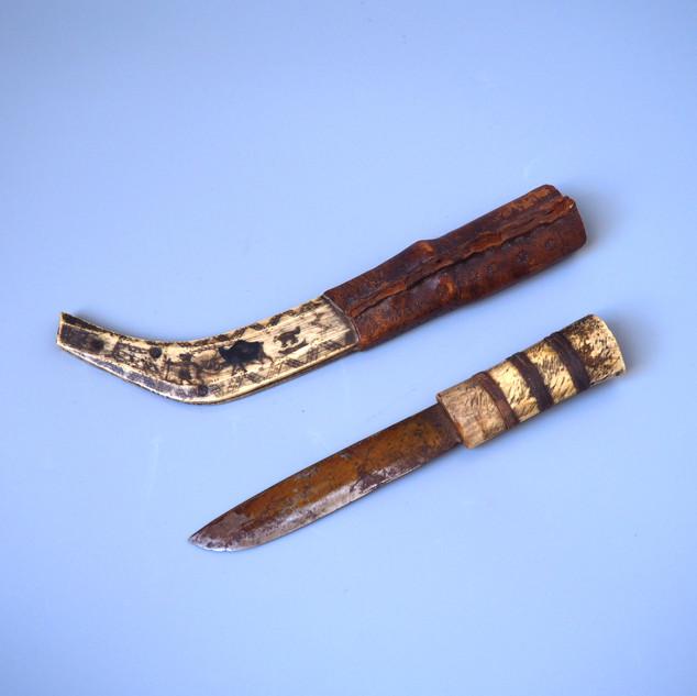 Lapland Saami reindeer antler knife & sheath