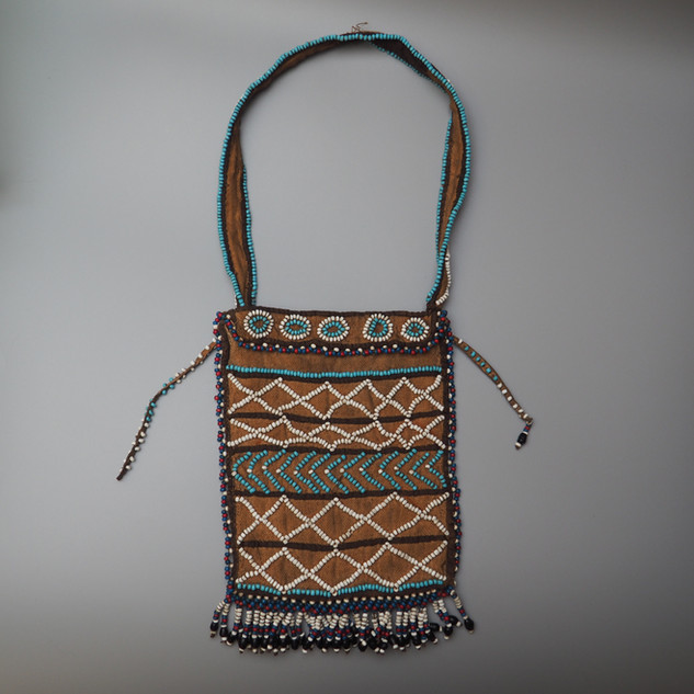South African Mfengu beaded tobacco pouch