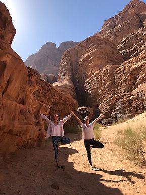 Tree pose Wadi Rum _