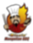 Blazin Mongolian BBQ restaurant logo.  Fresh healthy asian stir-fry.