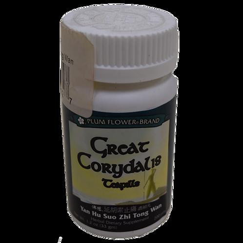 Great Corydalis Teapills Yan Hu Suo Wan Plum Flower Brand