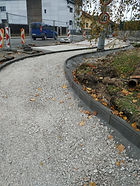 Výstavba autobusového zálivu na ulici El. Krásnohorské