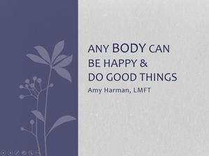Body Image Presentation PowerPoint