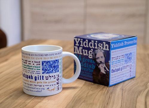 Tasse mit Jiddischen Sprüchen